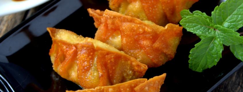 crispy baked veggie wontons
